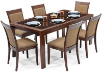 Urban Ladder Vanalen 6 - to - 8 Extendable - Dalla Solid Wood 6 Seater Dining Set(Finish Color - Dark Walnut)