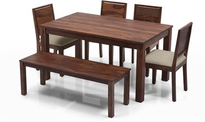 Urban Ladder Arabia - Oribi - Bench Solid Wood Dining Set(Finish Color - Teak)