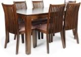 HomeTown Metro Solid Wood Dining Set (Fi...
