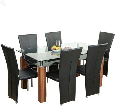 Royal Oak Iris Engineered Wood Dining Set(Finish Color - Honey Brown)