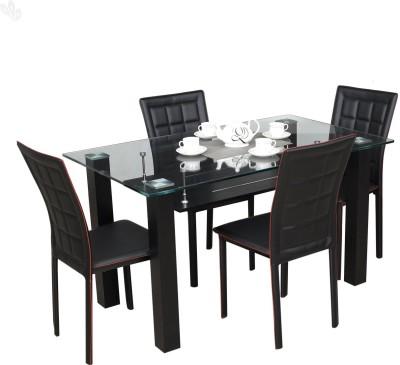 RoyalOak Aqua Glass Dining Set