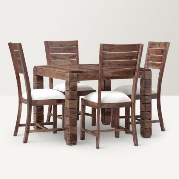 View Ethnic Handicrafts Solid Wood Dining Set(Finish Color - Dark Brown) Furniture (Ethnic Handicrafts)