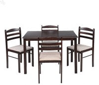 Royal Oak Hunter Solid Wood 4 Seater Dining Set(Finish Color - Honey Brown)
