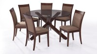 Urban Ladder Matheson - Dalla Solid Wood 6 Seater Dining Set(Finish Color - Dark Walnut)