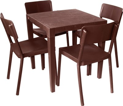 Cello Plastic Dining Set(Finish Color - Brown)