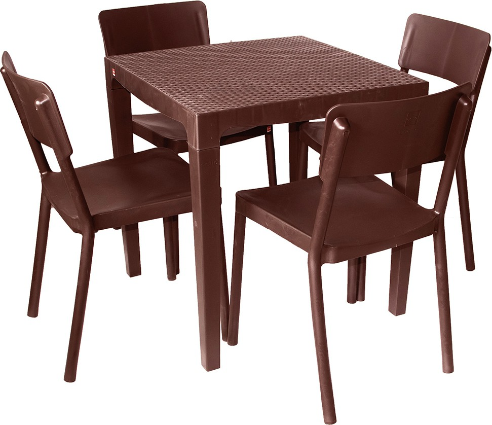 View Cello Plastic Dining Set(Finish Color - Brown) Furniture (Cello)