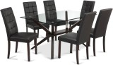 Durian PELICAN Glass Dining Set (Finish ...