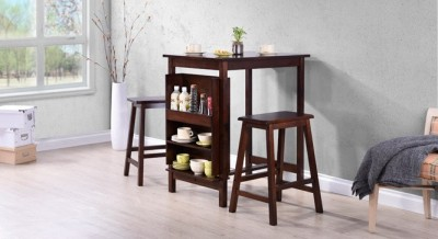 Urban Ladder Deosa Solid Wood Dining Set(Finish Color - Dark Walnut)