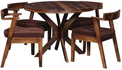 The Attic Solid Wood Dining Set(Finish Color - Honey)