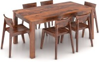 Urban Ladder Arabia XL Storage - Gordon Solid Wood Dining Set(Finish Color - Teak)