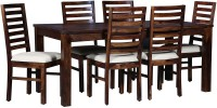 Home Edge Solid Wood 6 Seater Dining Set(Finish Color - Natural Wood Finish)