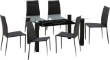 HomeTown Presto Glass Dining Set (Finish...