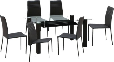HomeTown Presto Metal Dining Set(Finish Color - Brown)