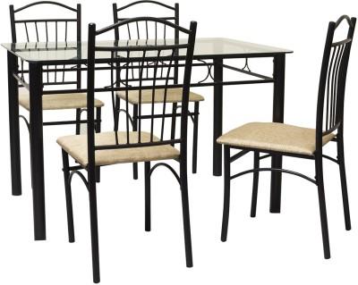 FurnitureKraft Metal Dining Set