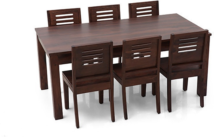 View Urban Ladder Arabia XL - Capra Solid Wood 6 Seater Dining Set(Finish Color - Mahogany) Price Online(Urban Ladder)