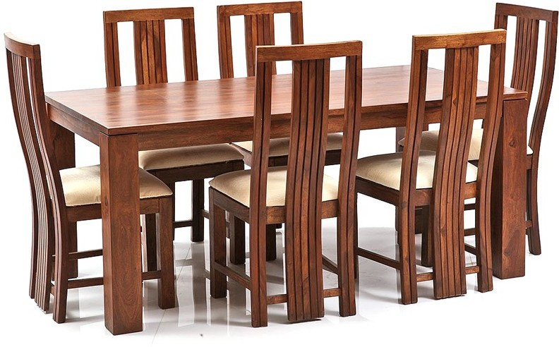 View Ethnic Handicrafts Solid Wood Dining Set(Finish Color - Teak) Furniture (Ethnic Handicrafts)