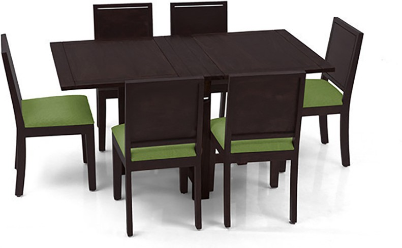 View Urban Ladder Danton 3 - to - 6 Extendable - Oribi Solid Wood 6 Seater Dining Set(Finish Color - Mahogany) Price Online(Urban Ladder)