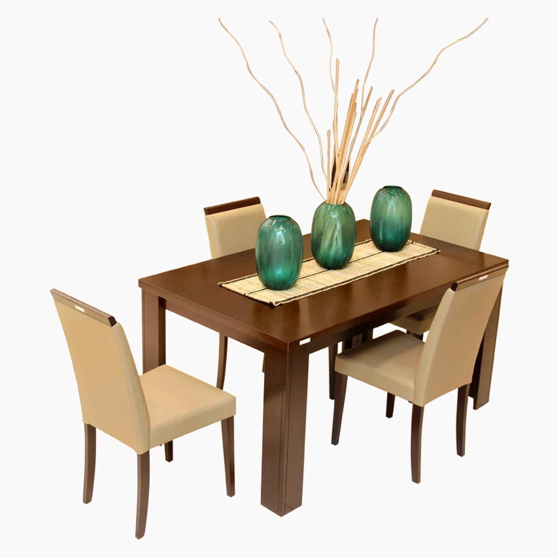 Godrej Interio Jack & Rose Dining Set Engineered Wood 4 Seater Dining Set(Finish Color - Brownish Black)