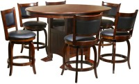 @home by Nilkamal Grant Solid Wood 6 Seater Dining Set(Finish Color - Brown)