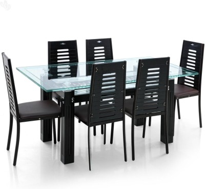 Royal Oak Milan Metal Dining Set(Finish Color - Black)