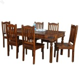 Royal Oak Solid Wood Dining Set (Finish ...