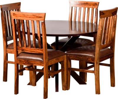 Induscraft Solid Wood Dining Set(Finish Color - Brown)
