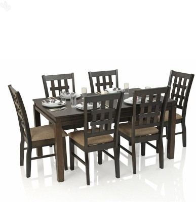 Royal Oak Daisy Solid Wood Dining Set(Finish Color - Dark)