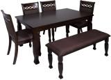 Evok Orli Solid Wood Dining Set (Finish ...