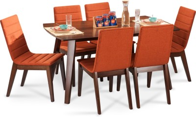 Durian JEFFREY Solid Wood Dining Set(Finish Color - Walnut)