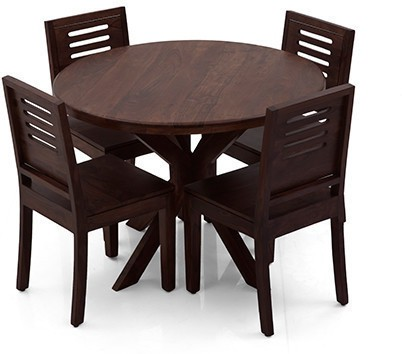 View Ethnic Handicrafts Solid Wood Dining Set(Finish Color - Dark Brown) Furniture (Ethnic Handicrafts)