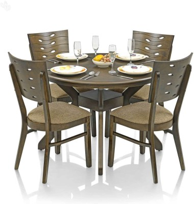 Royal Oak Sydney Solid Wood Dining Set(Finish Color - Brown)