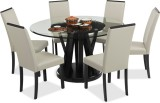 Durian WALDO Glass Dining Set (Finish Co...