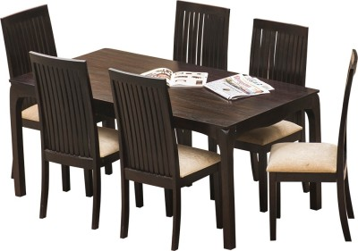 InLiving Solid Wood Dining Set(Finish Color - Brown)