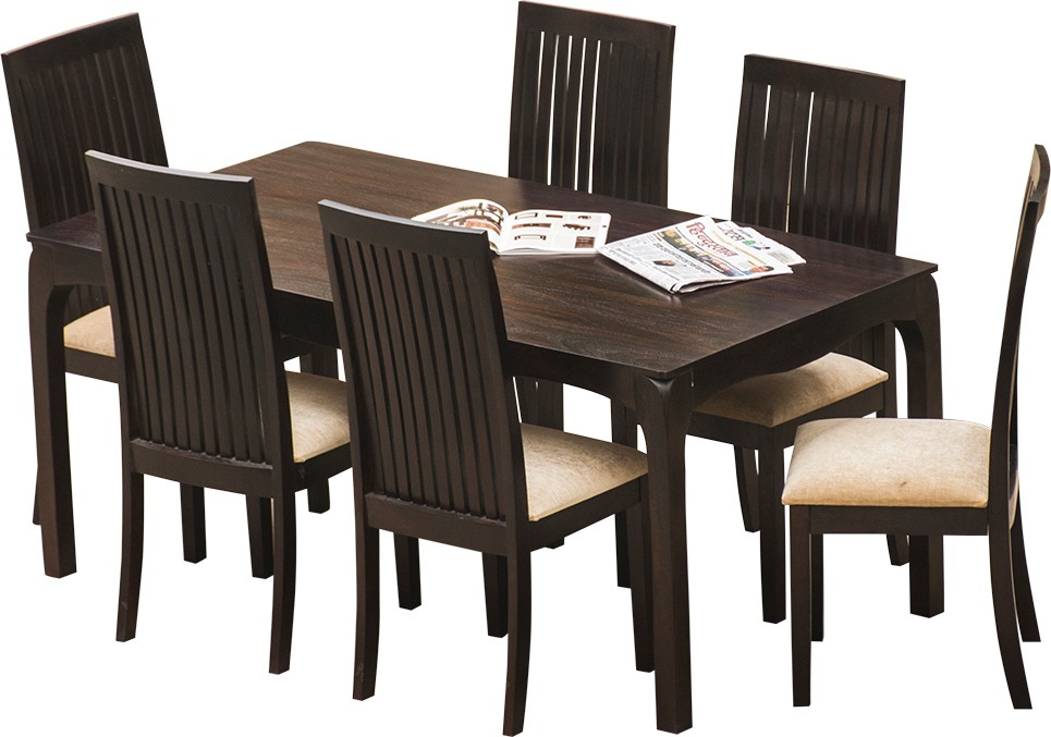 InLiving Solid Wood Dining Set class=