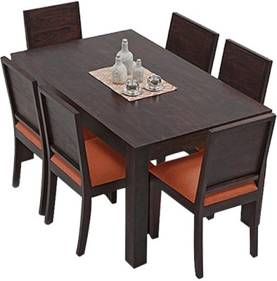 The Attic Solid Wood Dining Set(Finish Color - Espresso)