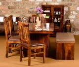Induscraft Solid Wood Dining Set (Finish...