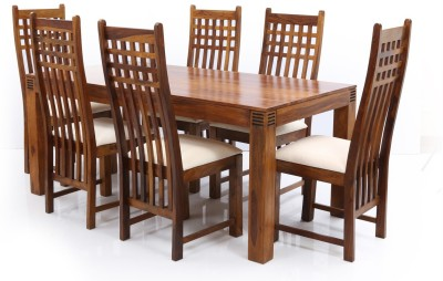 Evok Nakshatra Solid Wood Dining Set