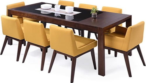 113b34cd25 Buy Urban Ladder Vanalen 6 - to - 8 Extendable - Leon Solid Wood Dining  Set(Finish Color - Dark Walnut) at best price in India - TheFurnitureMall