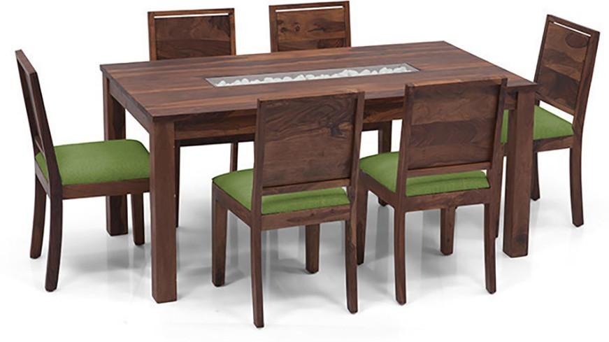 View Urban Ladder Brighton - Oribi Solid Wood 6 Seater Dining Set(Finish Color - Teak) Price Online(Urban Ladder)