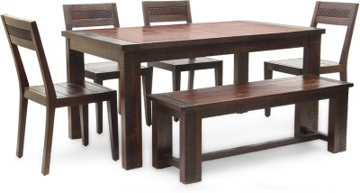 HomeTown Venus Solid Wood Dining Set(Finish Color - Brown)