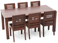 Urban Ladder Arabia XL - Capra Solid Wood 6 Seater Dining Set(Finish Color - Teak)