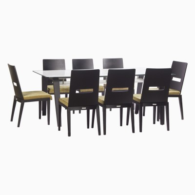Godrej Interio Crescent Dining Set Glass Dining Set