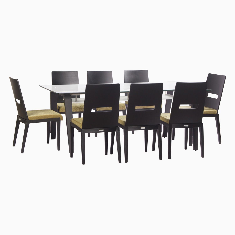 Godrej Interio Crescent Dining Set Glass Dining Set class=