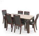 Royal Oak Marble Stone Dining Set (Finis...