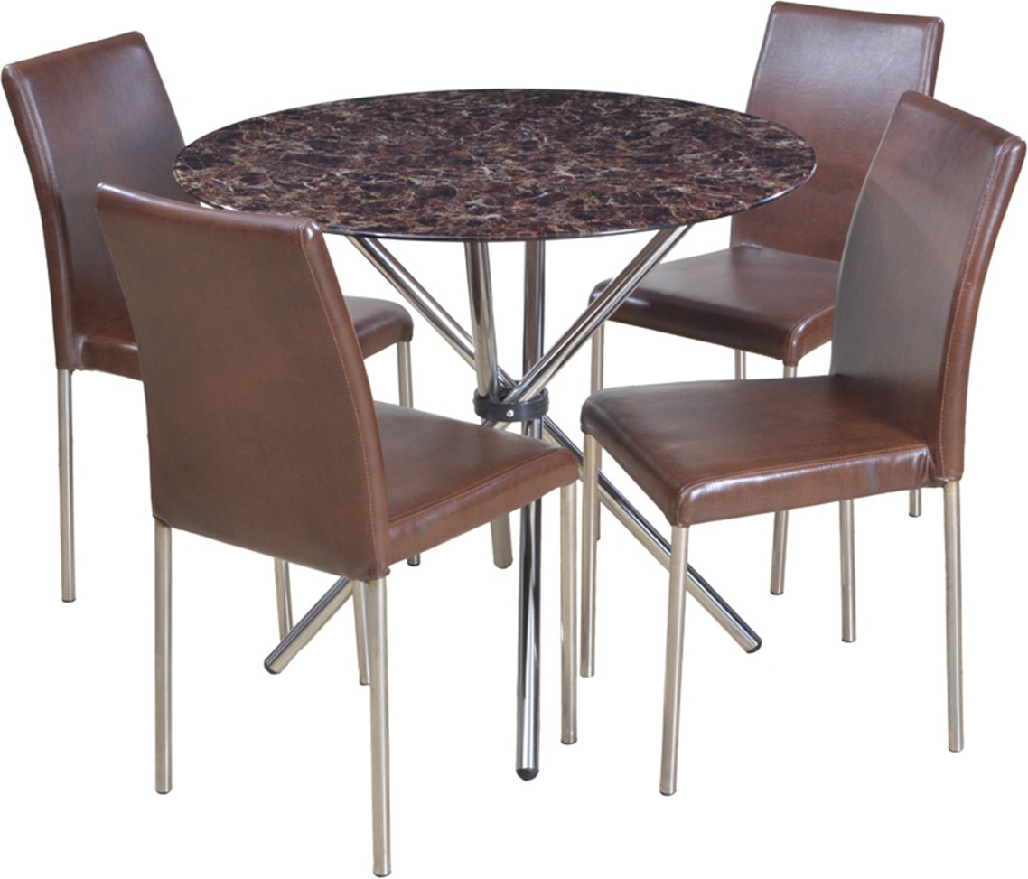 f6b8bb3ce52 View HomeTown Corral Glass 4 Seater Dining Set(Finish Color - Brown)  Furniture (