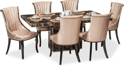 Durian KARA DINING SET Stone Dining Set(Finish Color - Beige)