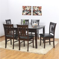 @home by Nilkamal Malmo Solid Wood 6 Seater Dining Set(Finish Color - Brown)