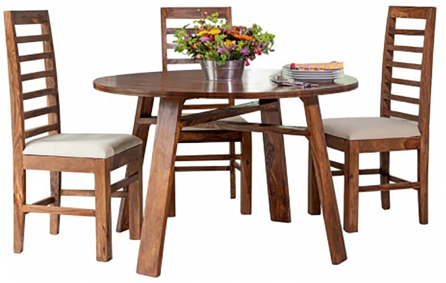 View Tezerac Solid Wood 2 Seater Dining Set(Finish Color - Brown) Price Online(Tezerac)