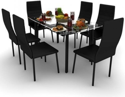 Housefull Metal Dining Set(Finish Color - BLACK)