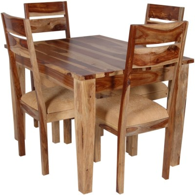 The Attic Solid Wood Dining Set(Finish Color - Natural)